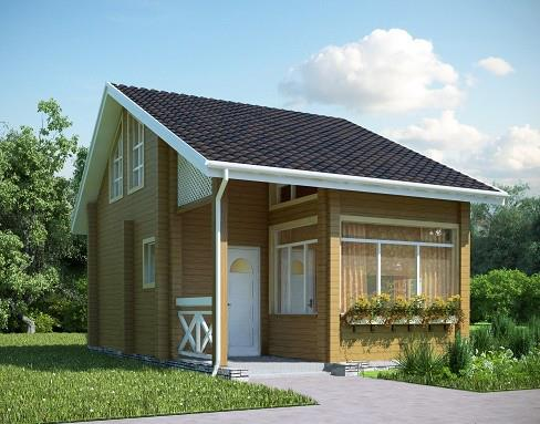 Двухэтажный дом из бруса 6 на 8 Проект Б-04
