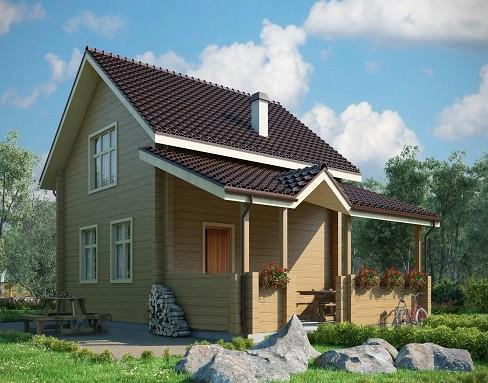 Дом из бруса 6х8 Проект Б-05
