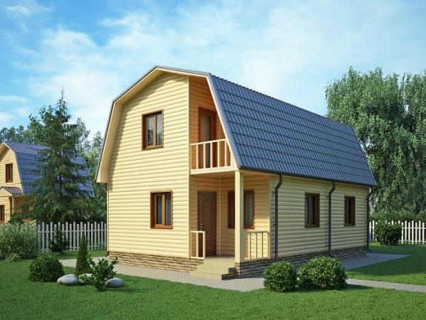 Дом из бруса 6х9 Проект Б-19