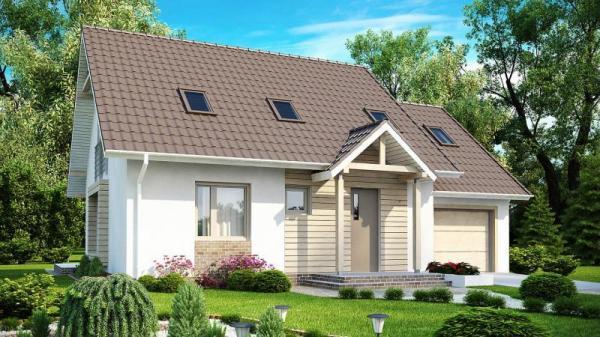 Дом из бруса 9,8×12,5 Проект Б-58