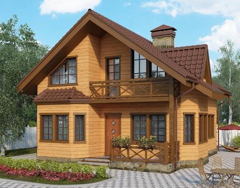 Дом из бруса 10,2х8,3 Проект Б-64