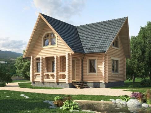 Дом из бруса 10,2х11,4 Проект Б-65