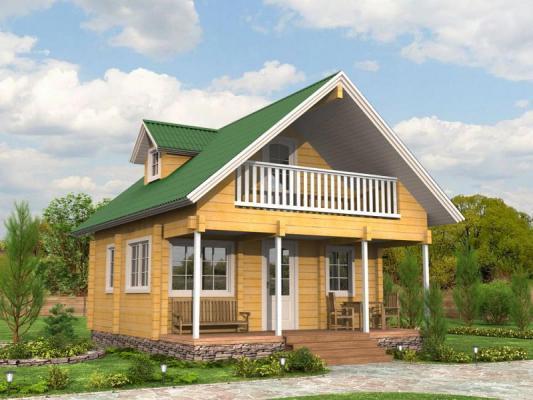 Дом из бруса 6,5х7,5 Проект Б-13