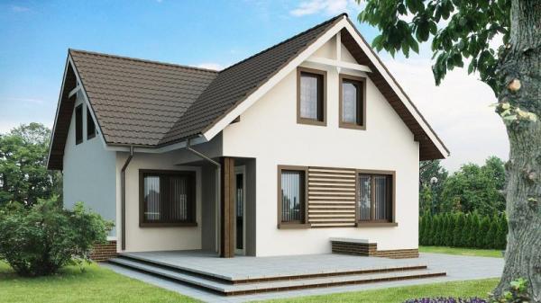 Дом из бруса 10,4х9,8 Проект Б-67