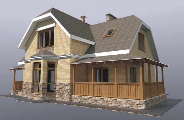 Дом из бруса 11х13 Проект Б-69