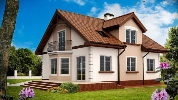 Дом из бруса 10х10,5 Проект Б-75