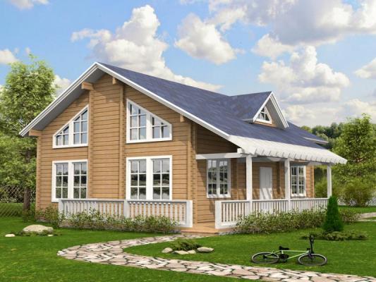 Дом из бруса 11х13,5 Проект Б-77