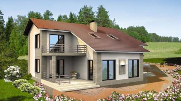 Дом из бруса 10х15,1 Проект Б-80