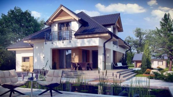 Дом из бруса 14х12 Проект Б-83