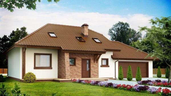 Дом из бруса 11х17,5 Проект Б-84