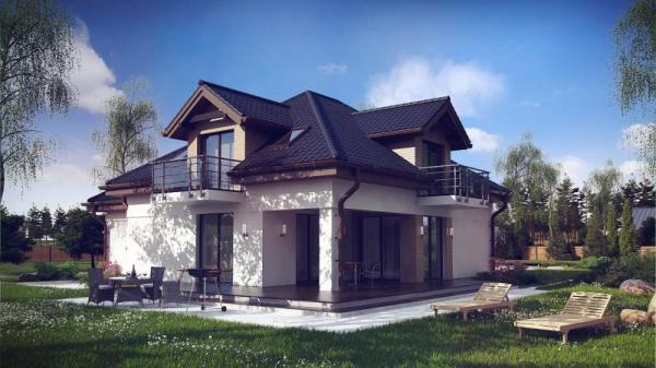 Дом из бруса 11,7х13,7 Проект Б-85