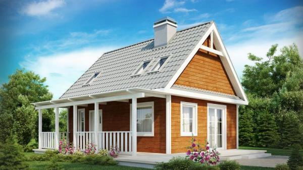 Дом из бруса 6,5х8,6 Проект Б-15