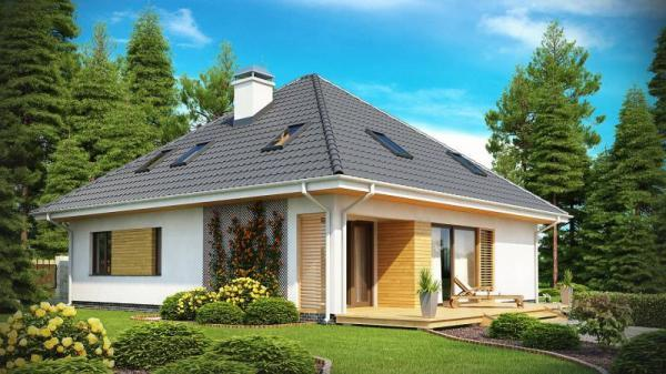 Дом из бруса 13,4х11,9 Проект Б-88