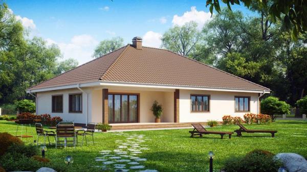 Дом из бруса 16,4х18,5 Проект Б-91