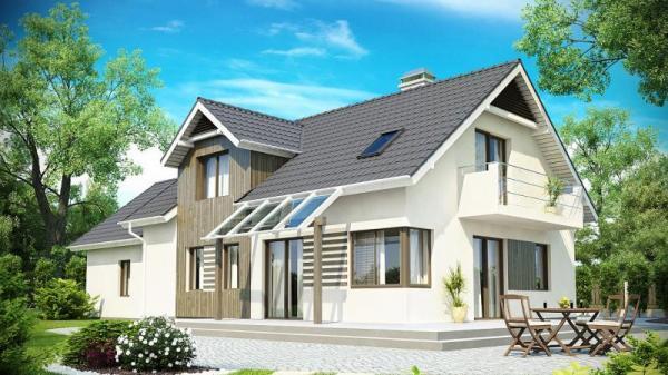 Дом из бруса 9,2х18,5 Проект Б-96