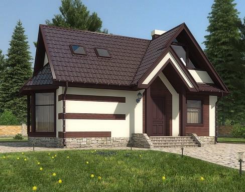 Дом из бруса 6х9,5 Проект Б-16
