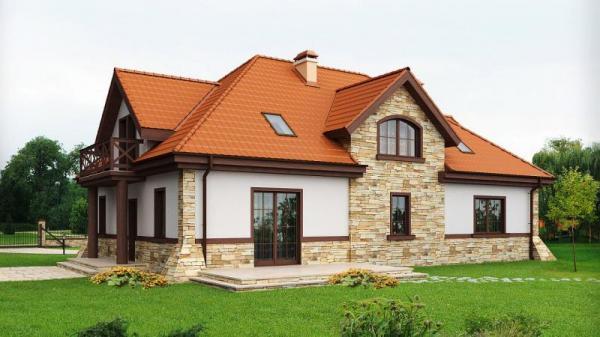 Дом из бруса 10,7х16,4 Проект Б-97