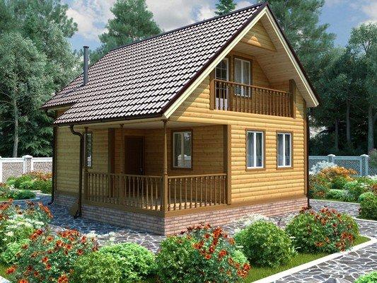 Каркасный дом 7×8 Проект KД-01
