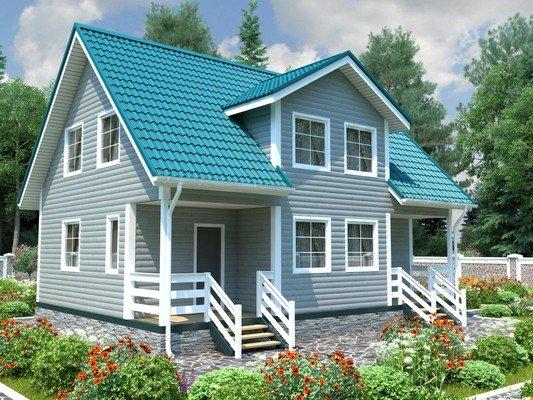 Каркасный дом 7,5×10 Проект KД-03