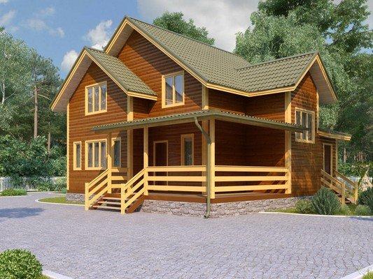Дом из бруса 9х10 Проект БД-04