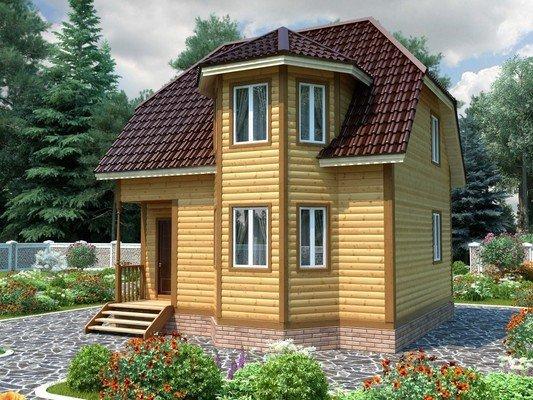 Дом из бруса 7х7 Проект БД-05