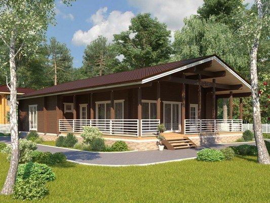 Каркасный дом 11×17 Проект KД-06