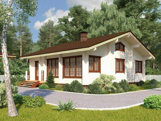 Каркасный дом 10×8,6 Проект KД-07
