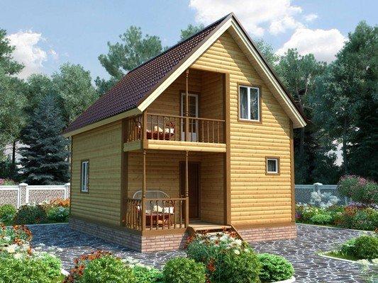 Дом из бруса 6х7,5 Проект БД-09