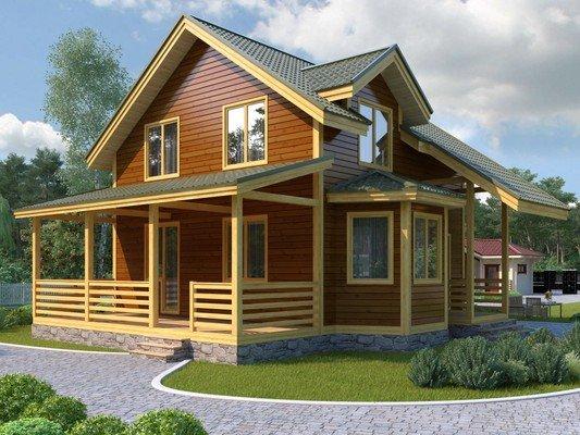Дом из бруса 10х11.9 Проект БД-10