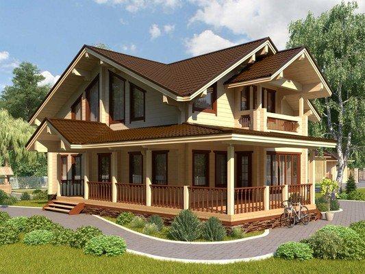 Дом из бруса 15.3х10.4 Проект БД-11