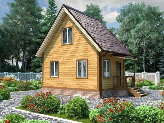 Каркасный дом 4×6 Проект KД-12