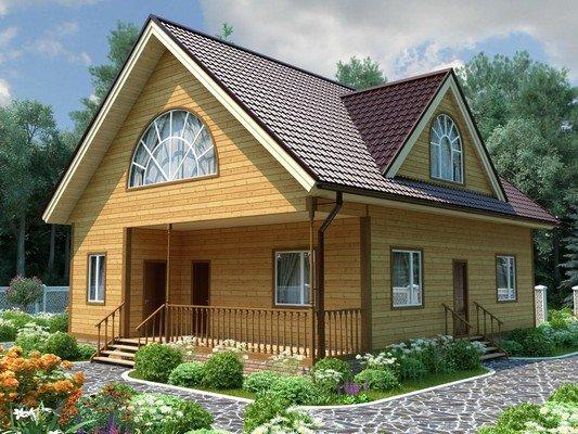 Каркасный дом 10×12 Проект KД-15