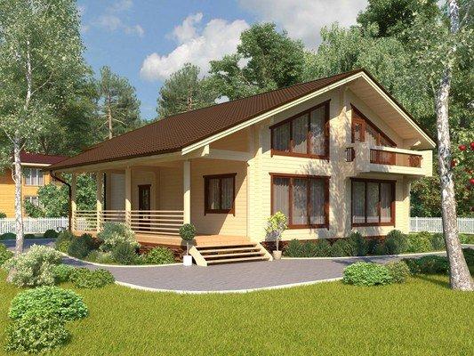 Дом из бруса 12,6х11,3 Проект БД-16