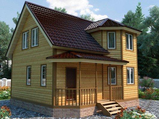 Дом из бруса 7х8 Проект БД-20