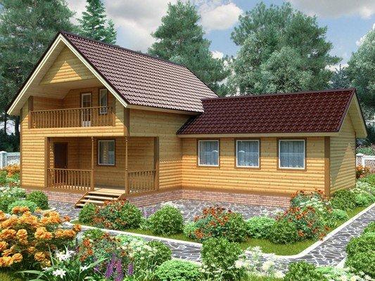 Дом из бруса 9х14 Проект БД-21