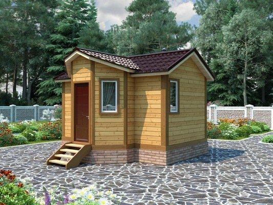 Дом из бруса 4,5х5 Проект БД-23