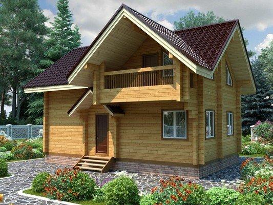 Дом из бруса 7х9 Проект БД-24