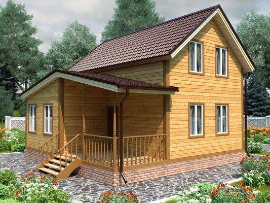Каркасный дом 8×8 Проект KД-25