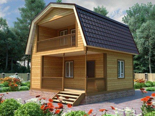 Каркасный дом 6×6 Проект KД-26