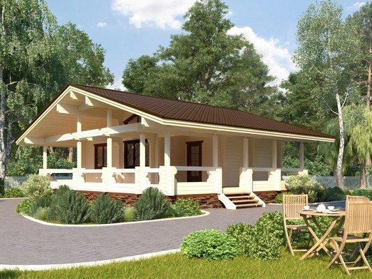 Дом из бруса 8,5х10,5 Проект БД-27