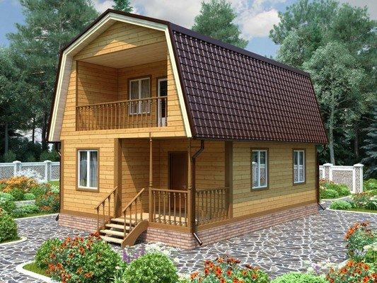 Дом из бруса 6х9 Проект БД-28
