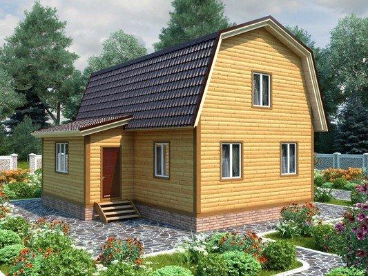 Каркасный дом 8×9 Проект KД-29