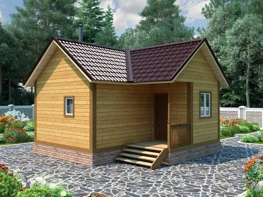 Дом из бруса 6х6 Проект БД-30
