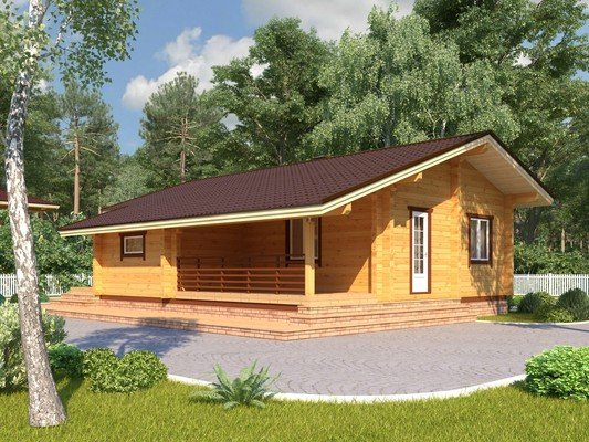 Дом из бруса 8,5х10,9 Проект БД-31