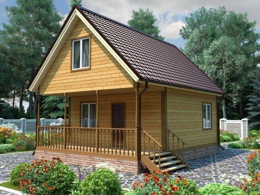 Каркасный дом 6×8 Проект KД-32