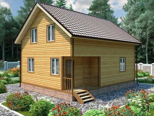 Дом из бруса 7х9 Проект БД-33