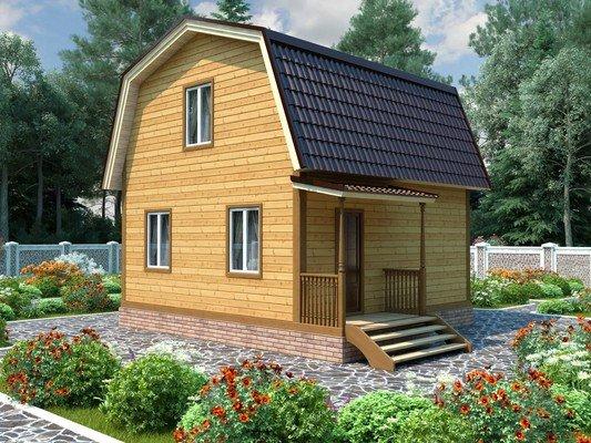 Каркасный дом 6×7 Проект KД-34