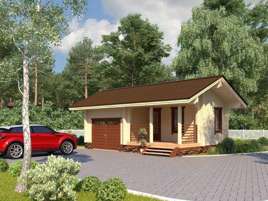 Каркасный дом 5×8 Проект KД-35