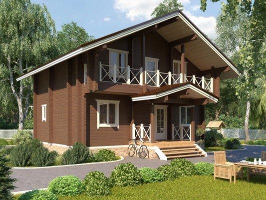 Дом из бруса 9х7 Проект БД-36