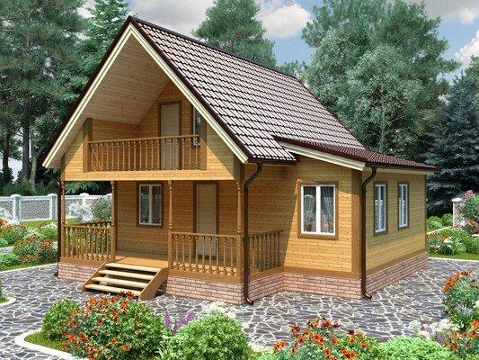 Каркасный дом 8×8 Проект KД-37